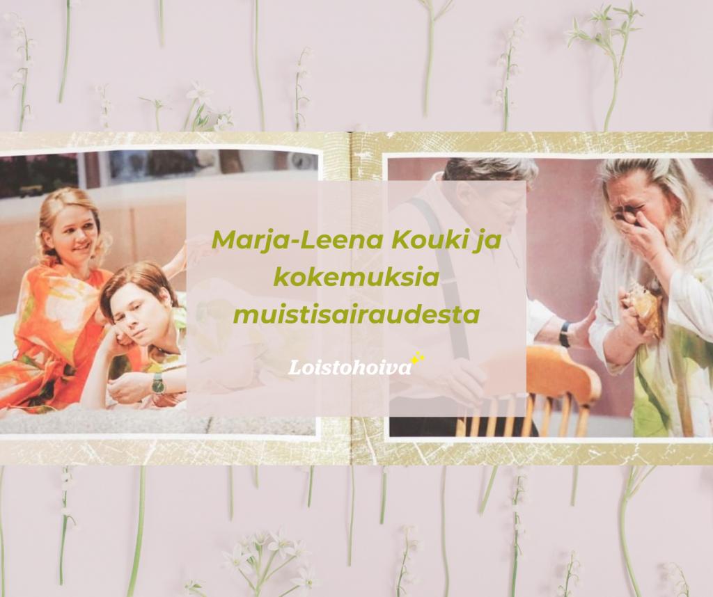 Marja-Leena Kouki ja kokemuksia muistisairaudesta, kuva Katoava Maa esitteestä