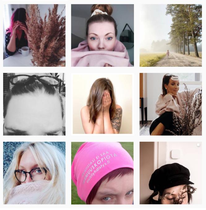#haluaisinmuistaa kuvien Instagram kollaasi